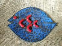 Blue fish soap dish